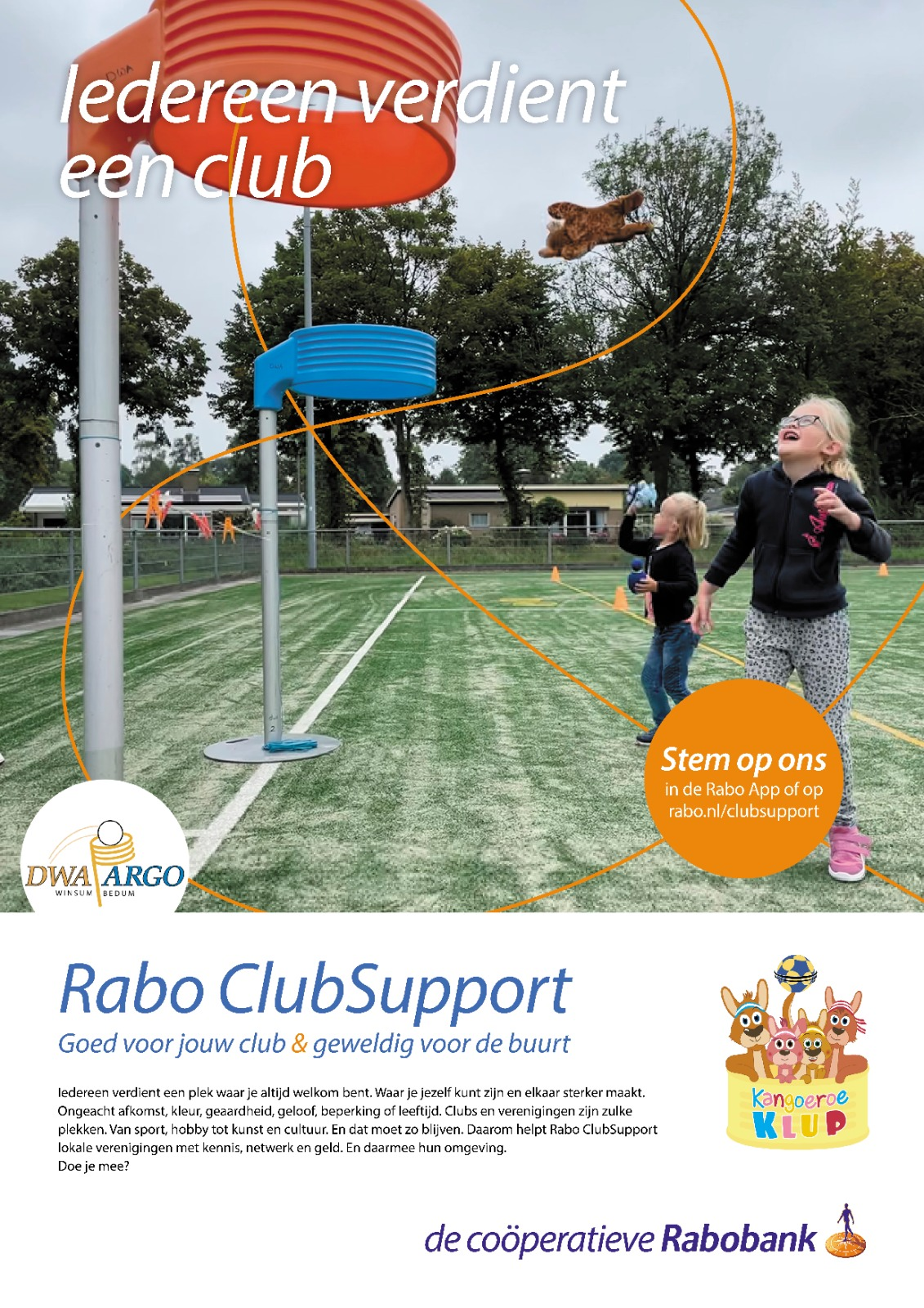 Rabo Clubsupport: stem op DWA-Argo